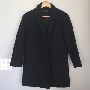 Structured Black Coat - perfect for work & dates